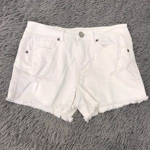 AÉROPOSTALE High Waisted White Denim Shorts NWOT